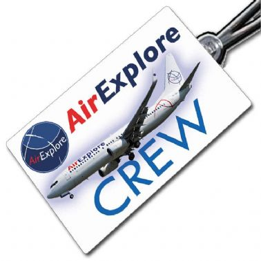 AIR EXPLORE B738 crew tag